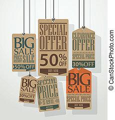 Vintage sale tags design