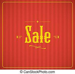 Vintage sale vector
