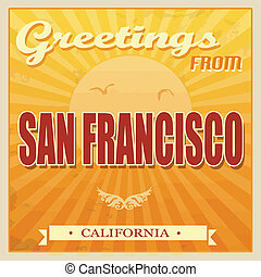 Vintage San Francisco, California poster