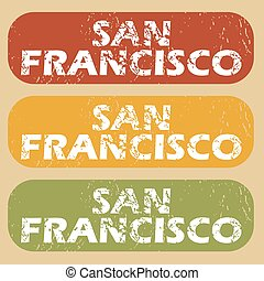 Vintage San Francisco stamp set