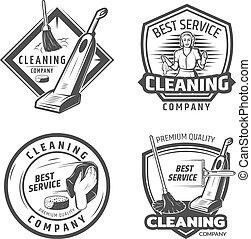 Vintage Sanitation Emblems
