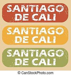Vintage Santiago De Cali stamps