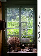 vintage scene near window