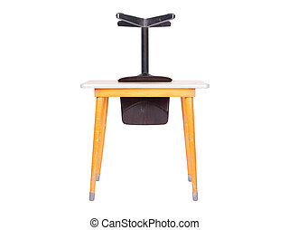 Vintage school desk and chair