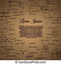 Vintage science plot