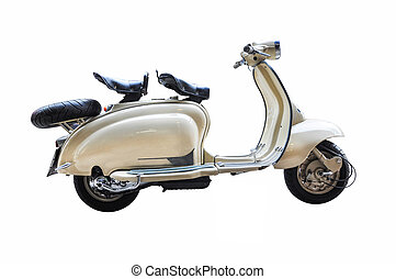 vintage Scooter on a white background