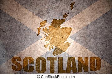 vintage scotland map