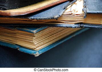 Vintage scrapbook stack