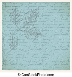 Vintage scrapbooking page with engraved roses and frames,...