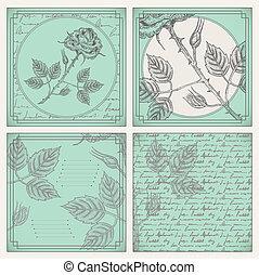 Vintage scrapbooking page