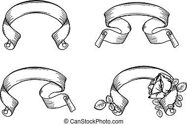 Vintage Scroll Ribbons