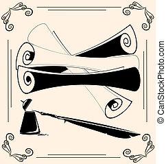 vintage scrolls