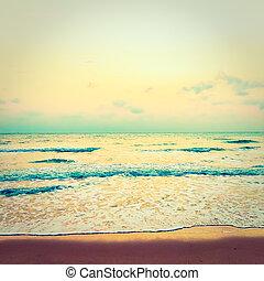 Vintage sea and beach