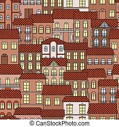 Vintage seamless architecture pattern background