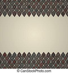 vintage seamless border pattern