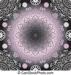 Vintage seamless dark pattern