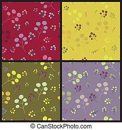 Vintage seamless floral pattern set