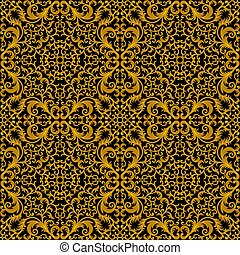 Vintage seamless floral pattern. Vector illustration.