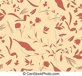 vintage seamless pattern autumn