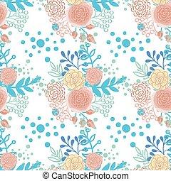 Vintage seamless pattern hand drawn flowers