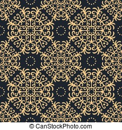 Vintage seamless pattern on dark background