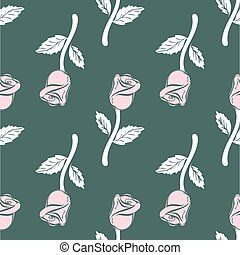 Vintage Seamless pattern roses.