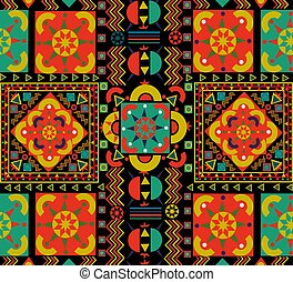 Vintage seamless pattern tile of retro floral art