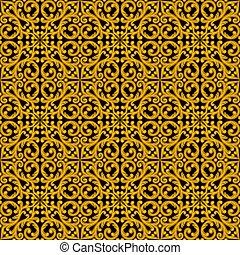 Vintage seamless pattern. Vector illustration.