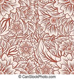 Vintage seamless pattern, vector