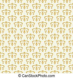 Vintage seamless pattern with golden ornament
