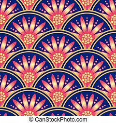 Vintage seamless pattern with