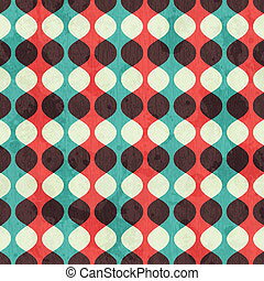 vintage seamless pattern with grunge effect