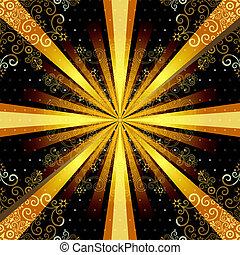 Vintage seamless pattern with rays - Vintage seamless...