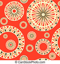 seamless pattern - Vintage seamless pattern with traditional...