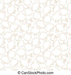 vintage seamless texture with champignons for your design