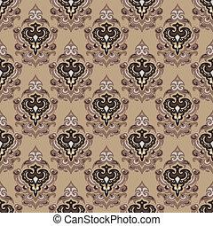 Vintage seamless vector damask background