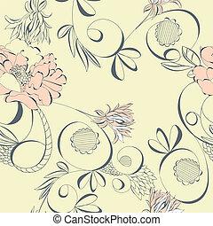 Vintage seamless wallpaper