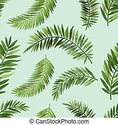 Vintage Seemless Palm Leaf Pattern