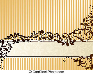 Vintage sepia banner, horizontal - Elegant banner design ...