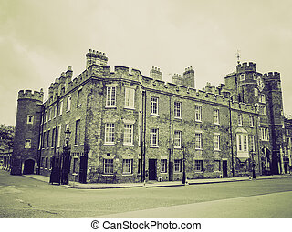 Vintage sepia St James Palace - Retro sepia St James Palace...