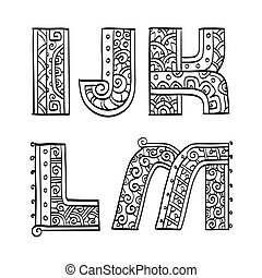 Vintage set of initial letters.