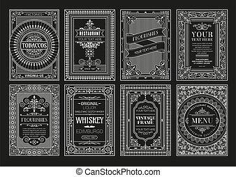 Vintage set retro cards.