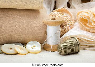 Vintage sewing craft items
