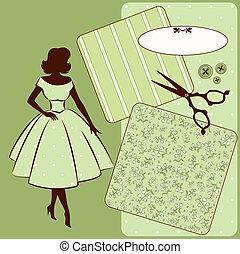 Vintage sewing elements