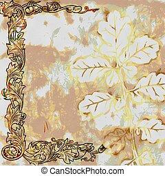 Vintage Shabby Chic Leaf Background