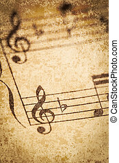 Vintage Sheet Music - Old classical sheet music has a...
