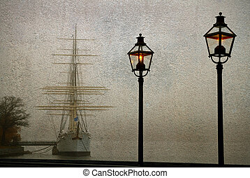 Vintage ship.