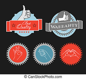 Vintage shopping labels and logo clip-art