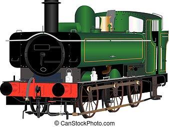 Vintage Shunting Loco - A Vintage Green Steam Shunting...