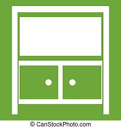 Vintage sideboard icon green